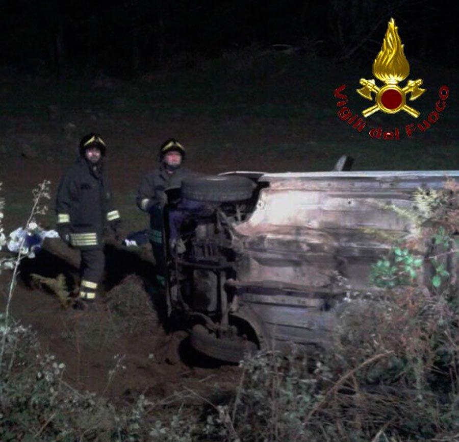 I Vigili del fuoco sulla scena dell'incidente