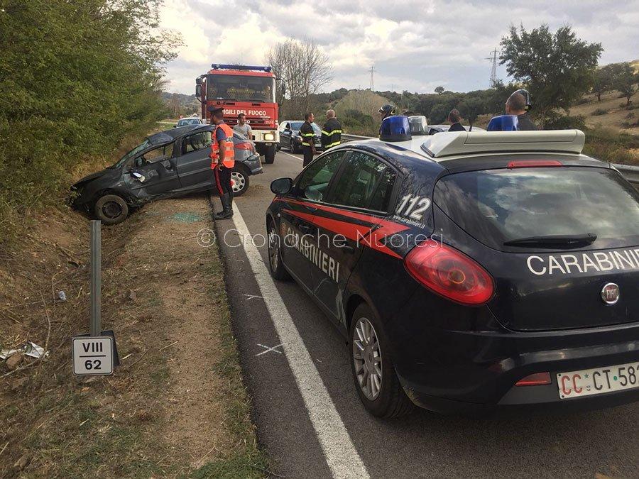 La Peugeot dopo l'incidenteLa Peugeot dopo l'incidente