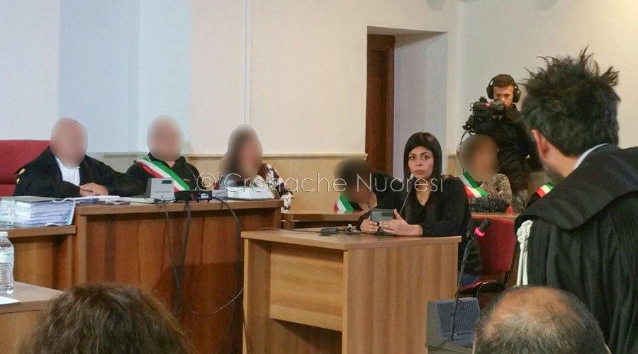Processo per il delitto Monni-Masala - deposizione della sorella di Monni (foto Cronache Nuoresi)