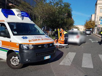 Nuoro, la scena dell'incidente (foto Cronache Nuoresi)