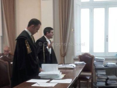 Gli avvocati Mattia Pani e Mauro Barberio oggi al Tar