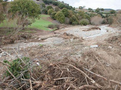 La devastazione dell'alluvione nel 2013 (foto S.Novellu)