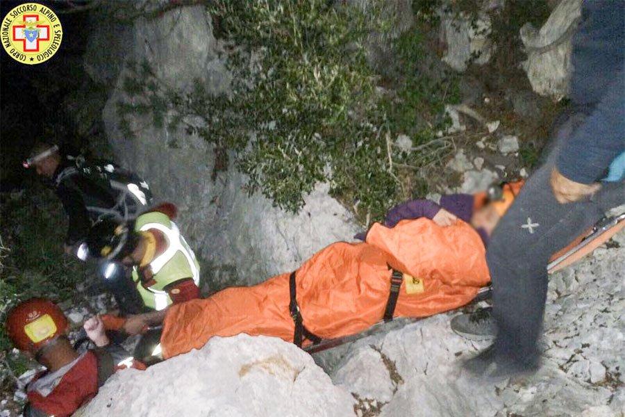 L'escursionista salvata dal Soccorso Alpino