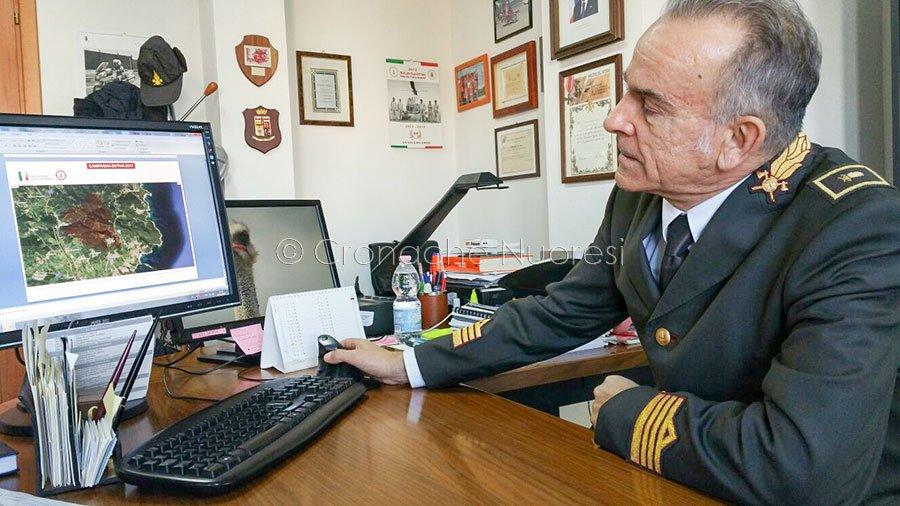 Il comandante dei Vigili del fuoco di Nuoro, Fabio Sassu