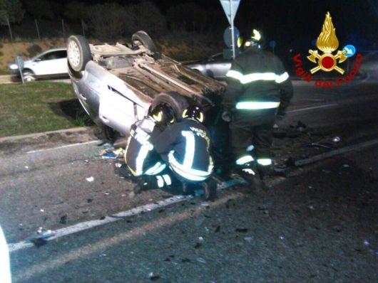 La Citroen C3 dopo l'incidente