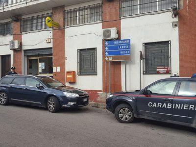 L'ufficio postale rapinato a Talana