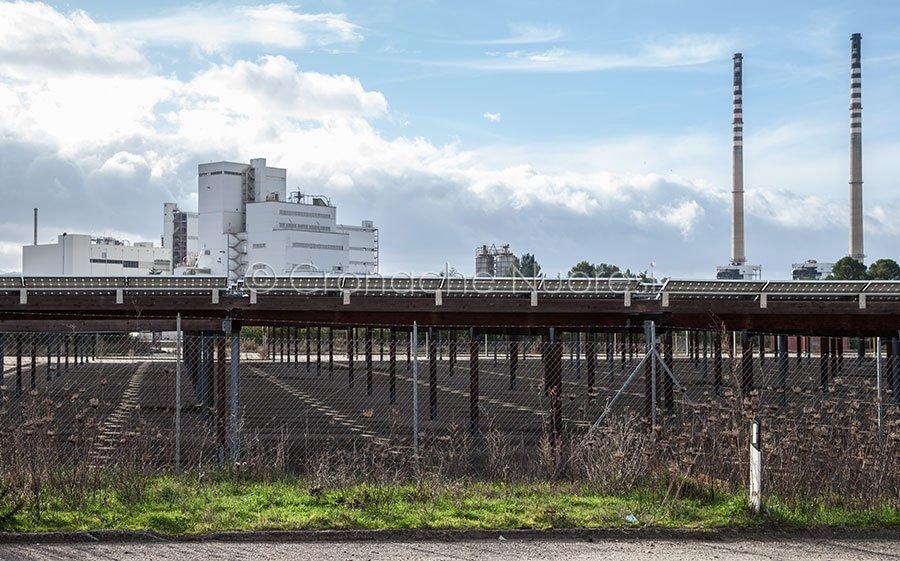 Ottana, pannelli solari degli stabilimenti (foto S.Novellu)