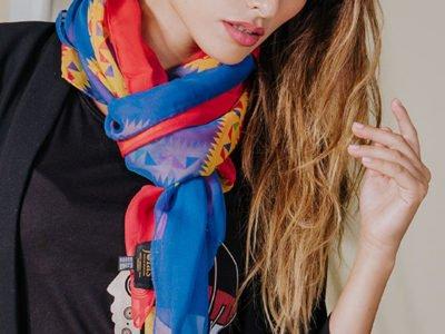 Joias, foulards seta twill Desulo