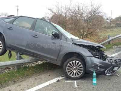 La Ford Focus dopo l'incidente