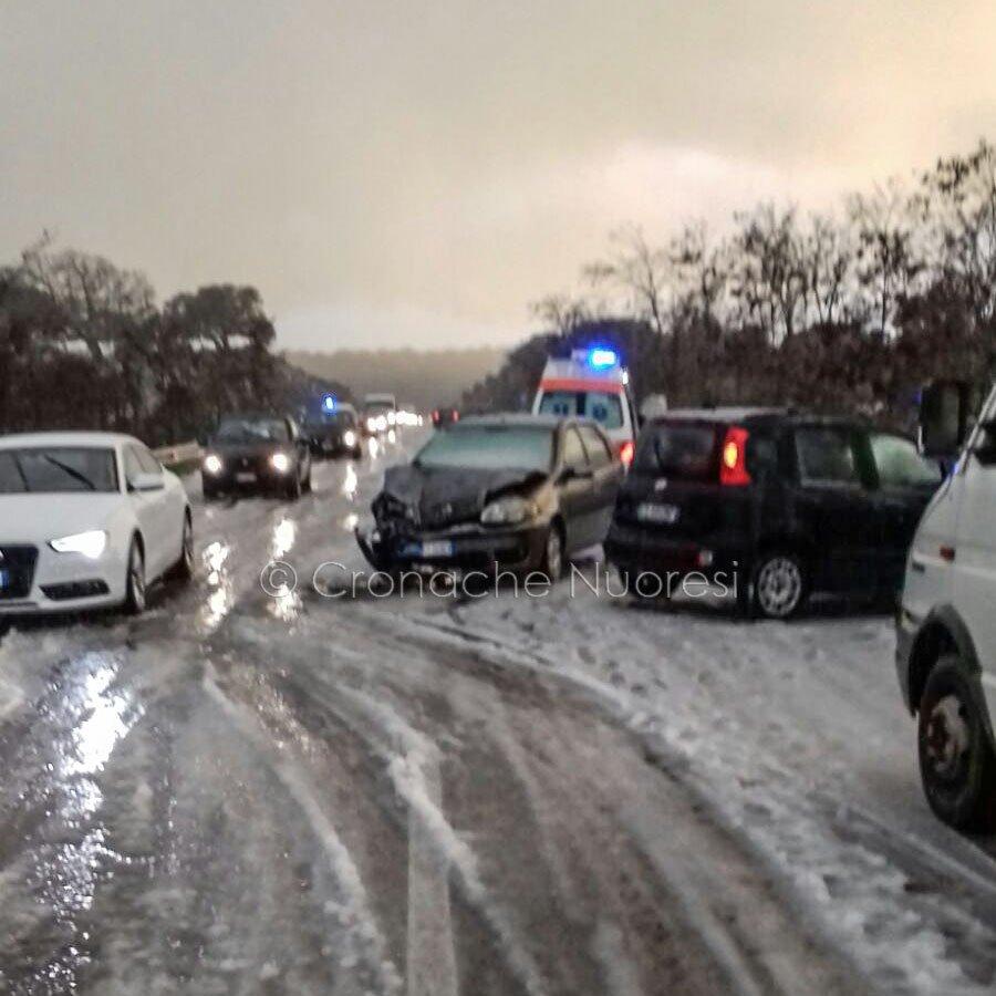 La scena dell'incidente sulla 389