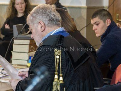Un momento dell'udienza odierna per Processo Monni-Masala (foto Cronache Nuoresi)
