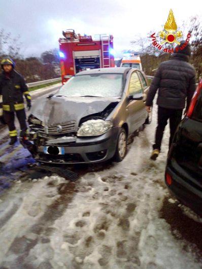 La Fiat Punto subito dopo l'incidente