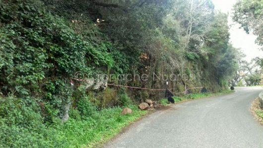 La vecchia strada che collega Scano Montiferro e Cuglieri dopo la frana