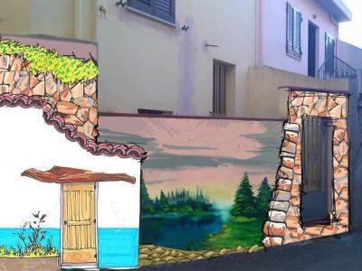 Esempio di recupero di un muro da parte di Tela Urbana