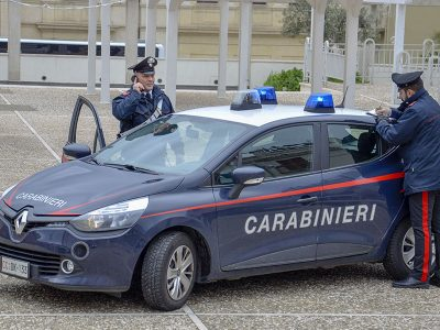 Carabinieri in piazza Mameli