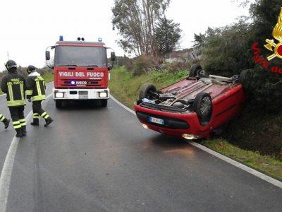 La Citroen dopo l'incidente