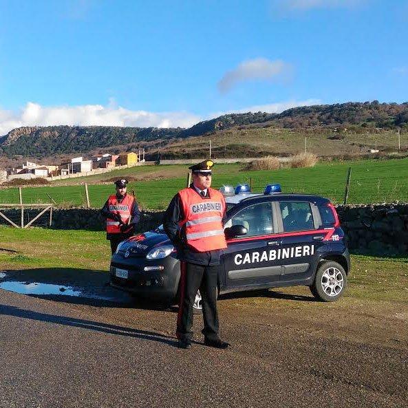 Una pattuglia dei Carabinieri di Orroli