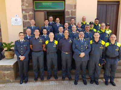 Guardia di Finanza, visita del comandante Valente a Bosa Marina