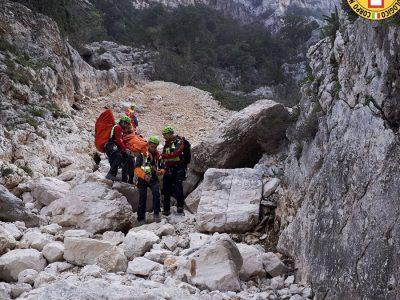 Il Soccorso Alpino sul luogo dell'incidente