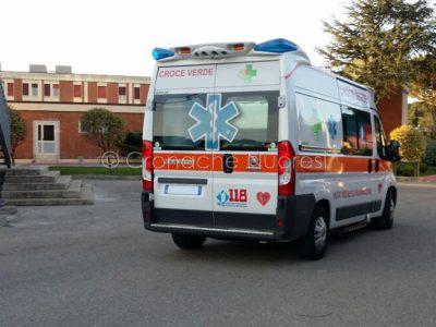Nuoro. Un'ambulanza del 118 al San Francesco (foto S.Novellu)