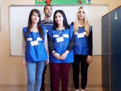 I volontari del Servizio Civile: Carla Angius Valeria Virde Michela Morittu Edoardo Cossu