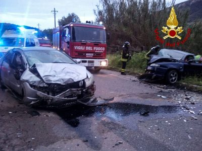 Le due auto dopo l'incidente