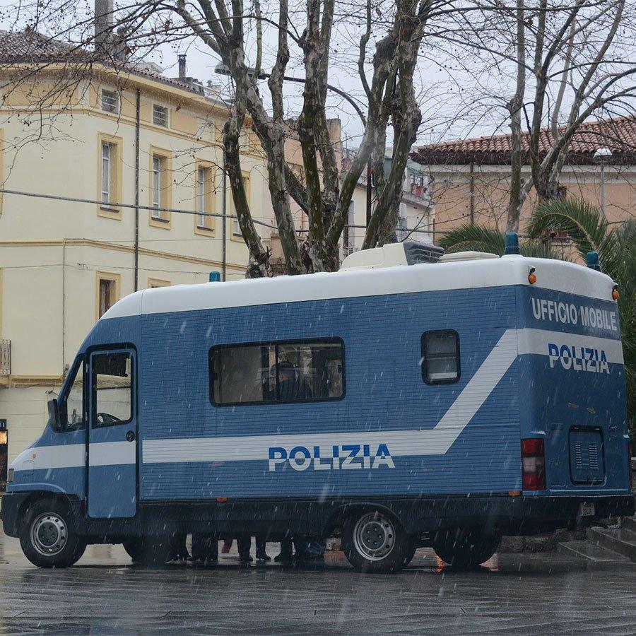 Il Camper della Polizia di Stato