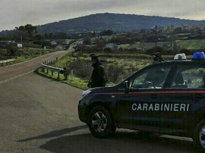 Carabinieri in una piazzola