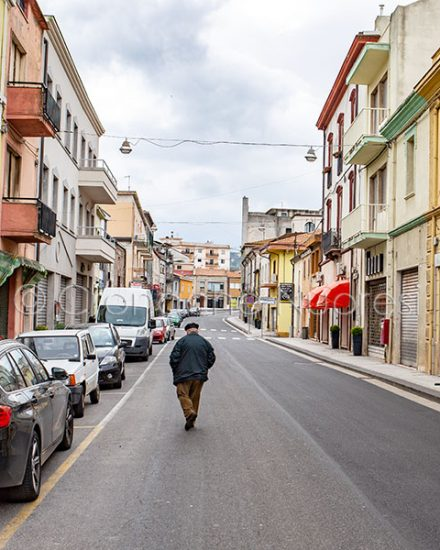 Macomer, il Corso Umberto (foto S.Novellu)