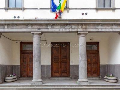 Macomer, l'ingresso al Palazzo comunale (foto S.Novellu)