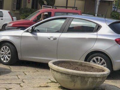 Una delle autovetture nuove acquistate dalla Giunta Soddu