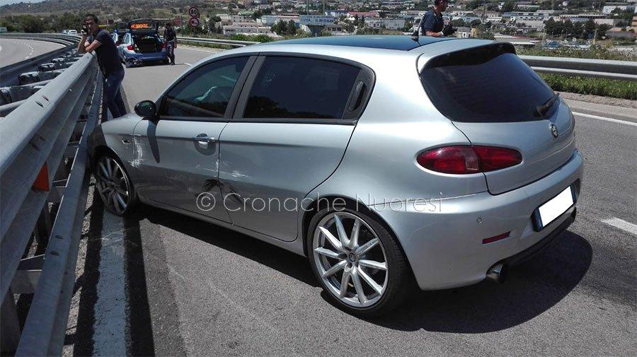 L'Alfa Romeo dopo l'incidente
