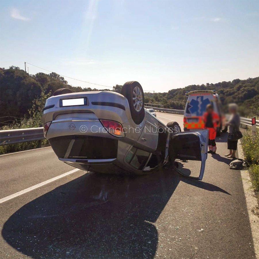 L'auto della donna dopo l'incidente