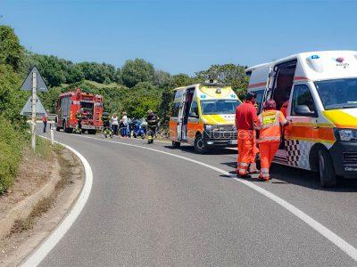 La scena dell'incidente (© foto Cronache Nuoresi)