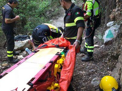 Le operazioni di soccorso dell'escursionista