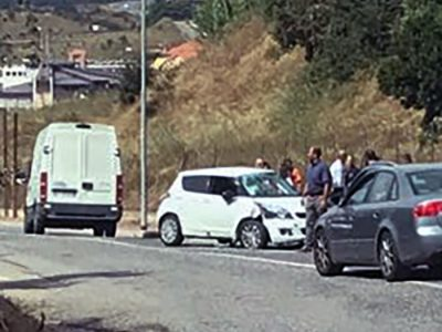 Nuoro, la scena dell'incidente in viale Sardegna