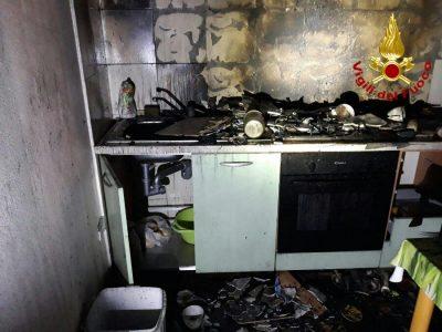La cucina dopo il rogo