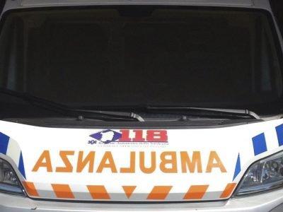 Un'ambulanza del 118 di Lodè