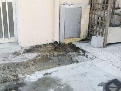 La perdita d'acqua in piazza Sodati