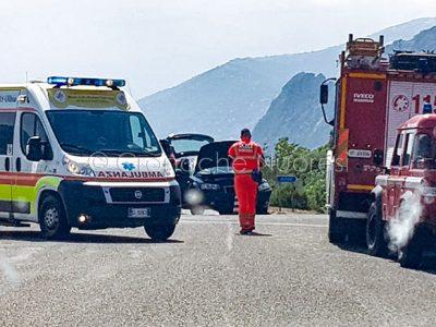 La scena dell'incidente al bivio di Santa Lucia