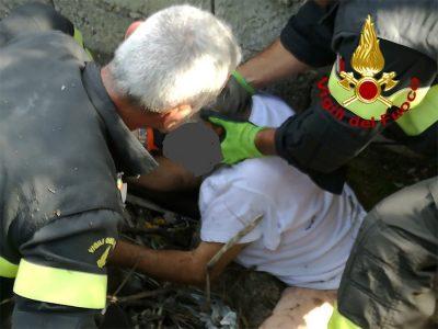 Il paziente dell'ospedale recuperato alla pineta di Ugolio
