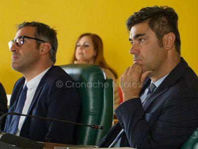 Il sindaco Andrea Soddu il presidente del Consiglio Fabrizio Beccu (foto S.Novellu)