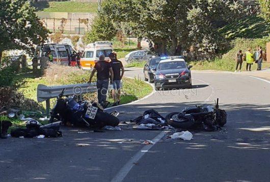La scena dell'incidente all'ingresso di Ovodda