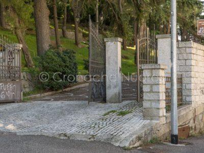 Nuoro, ingresso al parco di Sant'Onofrio (foto S.Novellu)