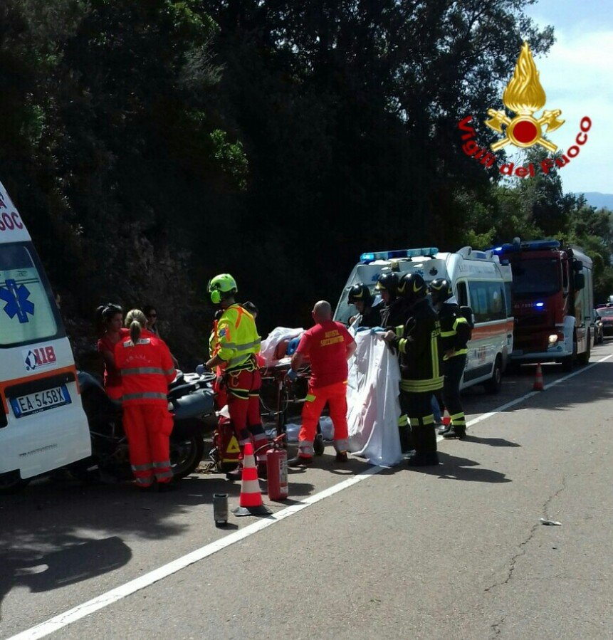 La scena dell'incidente mortale