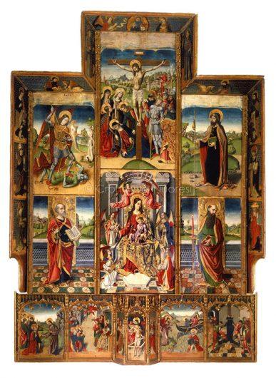 ll retablo di Tuili, opera del Maestro di Castelsardo