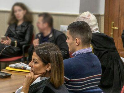 Aberto Cubeddu durante il processo (foto Cronache Nuoresi)