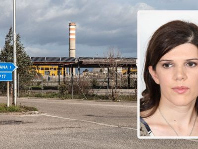 Area industriale di Ottana e nel riquadro Daniela Forma