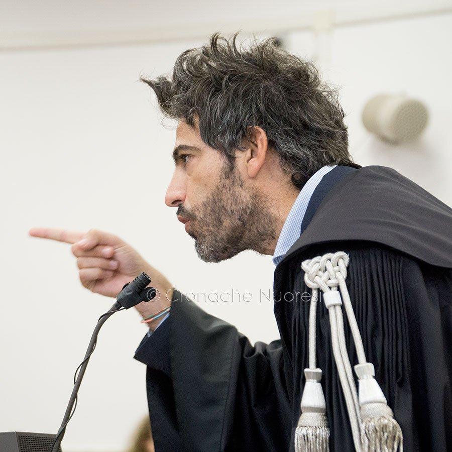 Il PM Andrea Vacca durante la replica (foto S.Novellu)