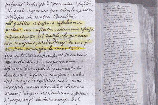 Il documento originale su Mons. Casablanca